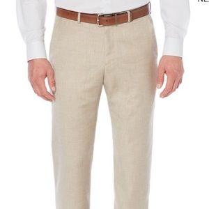 Perry Ellis Herringbone linen cotton dress pants